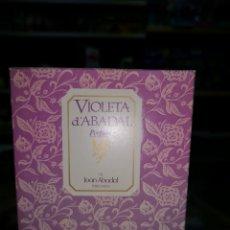 Miniaturas de perfumes antiguos: VIOLETA D'ABADAL PERFUM 100 ML.COLONIA LLENA, SIN USAR.. Lote 132501837