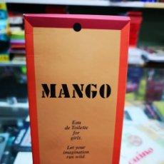 Miniaturas de perfumes antiguos: MANGO EUA DE TOILETTE 100ML.COLONIA LLENA.. Lote 195057420