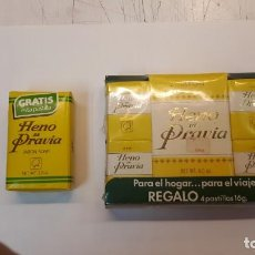 Miniaturas de perfumes antiguos: HENO DE PRAVIA, LOTE JABONES.. Lote 133196678