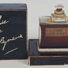 Miniaturas de perfumes antiguos: ESENCIA DE PERFUME. LE CHIC DE MOLYNEUX. ORIGINAL. PARIS. CIRCA 1930. . Lote 133313318