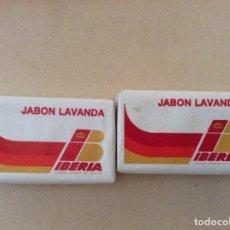 Miniaturas de perfumes antiguos: 2 PASTILLAS DE JABÓN LAVANDA . Lote 134106306