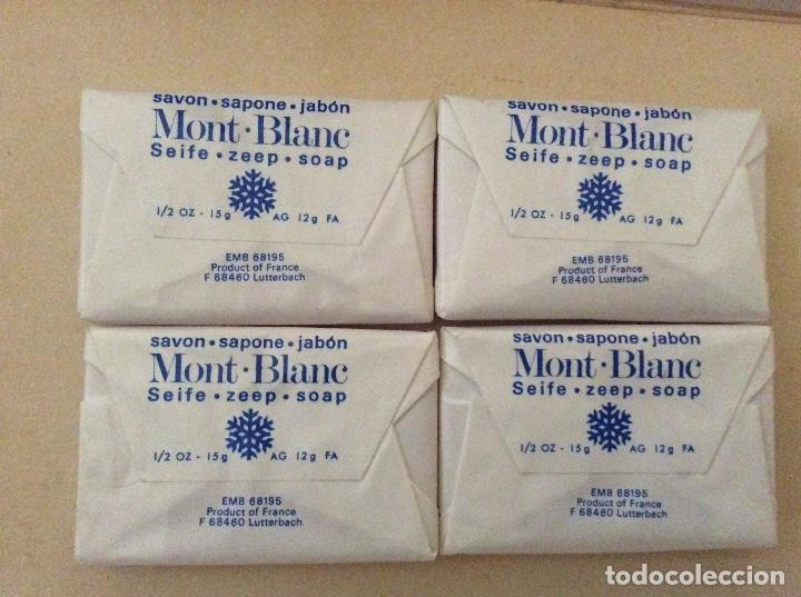 Miniaturas de perfumes antiguos: 4 pastillas de jabón mont blanc - Foto 2 - 134107490