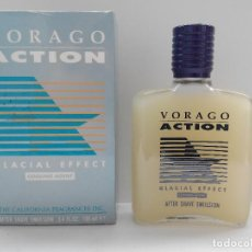 Miniaturas de perfumes antiguos: VORAGO ACTION AFTER SHAVE EMULSION 100 ML EFECTO GLACIAL - A ESTRENAR - SIN USO - DESCATALOGADO. Lote 134368674