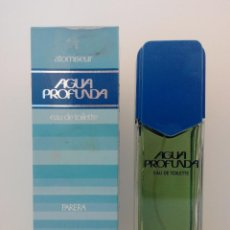 Miniaturas de perfumes antiguos: COLONIA AGUA PROFUNDA 125 ML VAPORIZADOR - PARERA - DESCATALOGADA. Lote 134372686
