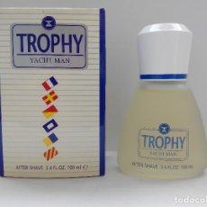 Miniaturas de perfumes antiguos: TROPHY TACHT MAN AFTER SHAVE 100 ML - MYRURGIA - A ESTRENAR. Lote 134401502