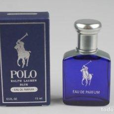 Miniaturas de perfumes antiguos: MINIATURA RALPH LAUREN POLO BLUE EDP 15 ML. Lote 136233850