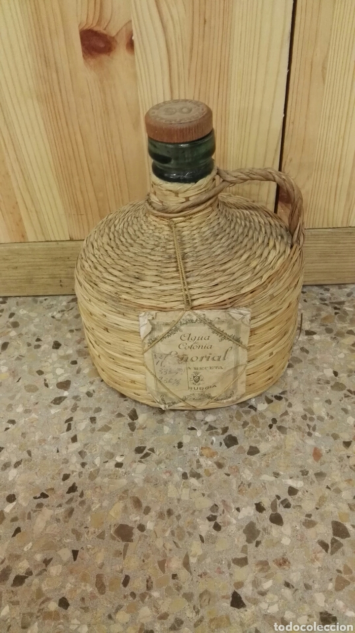 ANTIGUA BOTELLA DE AGUA DE COLONIA SEÑORIAL DE MYRURGIA. (Coleccionismo - Miniaturas de Perfumes)