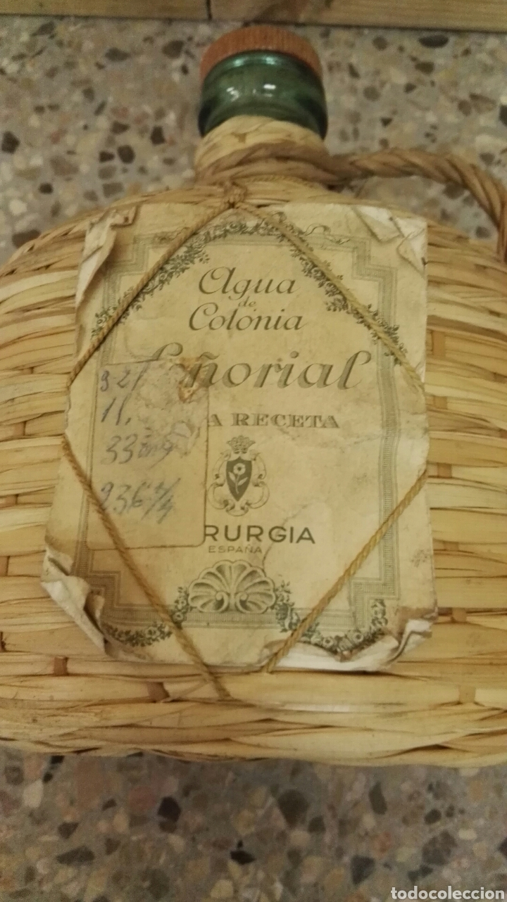 Miniaturas de perfumes antiguos: Antigua botella de Agua de Colonia Señorial de Myrurgia. - Foto 3 - 137236381