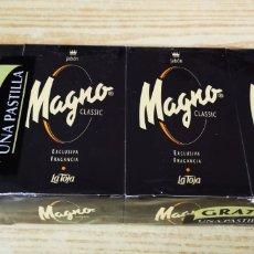 Miniaturas de perfumes antiguos: MAGNO CLASSIC 4 PASTILLAS DE JABÓN SIN ABRIR. Lote 137616606