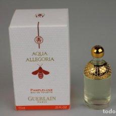Miniaturas de perfumes antiguos: MINIATURA GUERLAIN AQUA ALLEGORIA PAMPLELUNE EDT 7,5 ML . Lote 138859754