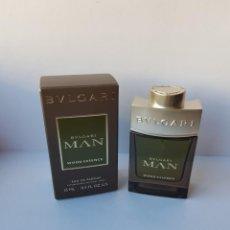 Miniaturas de perfumes antiguos: MINIATURA BVLGARI MAN WOOD ESSENCE EDP 15 ML . Lote 138902738