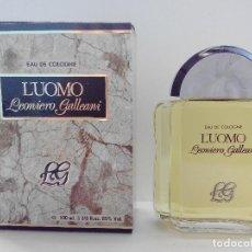 Miniaturas de perfumes antiguos: COLONIA L`UOMO LEONIERO GALLEANI 100 ML - LUOMO - DE PARERA - A ESTRENAR - DESCATALOGADO. Lote 139423382