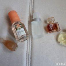 Miniaturas de perfumes antiguos: LOTE DE CINCO MINIATURAS DE PERFUME. Lote 142227958