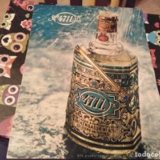 Miniaturas de perfumes antiguos: ANTIGUO RECORTE ANUNCIO COLONIA PERFUME Nº 4711 KOLNISCH WASSER TRASERA CAVA CODORNIU . Lote 142436242