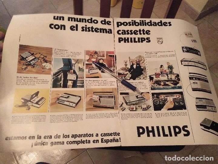 ANTIGUO Y GRAN ANUNCIO CASSETTE PHILIPS TRASERA CALEFACCION ROCA Y BEBIDA PEDRO DOMECQ (Coleccionismo - Miniaturas de Perfumes)