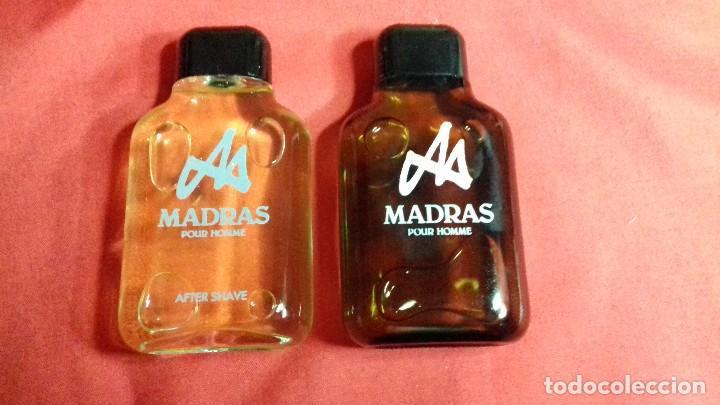 Miniaturas de perfumes antiguos: 2 MADRAS DE MYRURGIA COLONIA HOMBRE 50 ML POUR HOMME AFTER SHAVE DESCATALOGADO no tiene caja - Foto 2 - 143283250