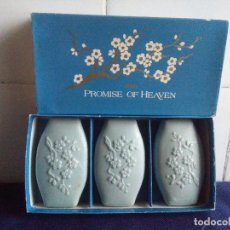 Miniaturas de perfumes antiguos: ESTUCHE 3 PASTILLAS AVON PROMISE OF HEAVEN . Lote 146169134