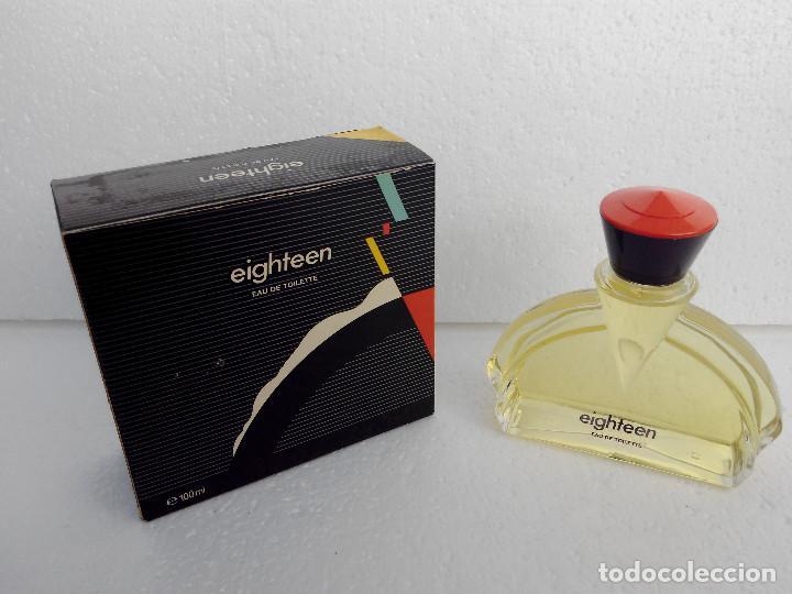 Miniaturas de perfumes antiguos: COLONIA EIGHTEEN 100 ML A ESTRENAR - PUIG - AÑO 1990 -DESCATALOGADA - Foto 6 - 146594810