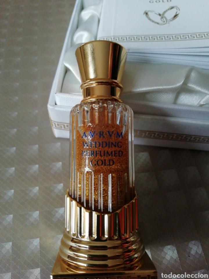 Miniaturas de perfumes antiguos: Perfume Aurum wedding perfumed gold - Foto 3 - 146752453