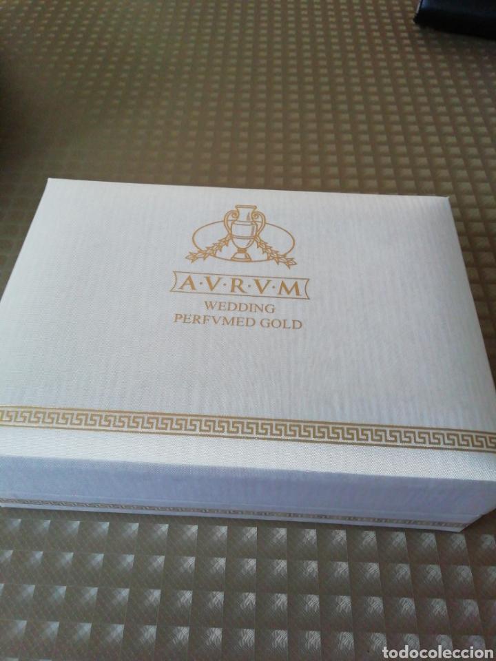 Miniaturas de perfumes antiguos: Perfume Aurum wedding perfumed gold - Foto 7 - 146752453