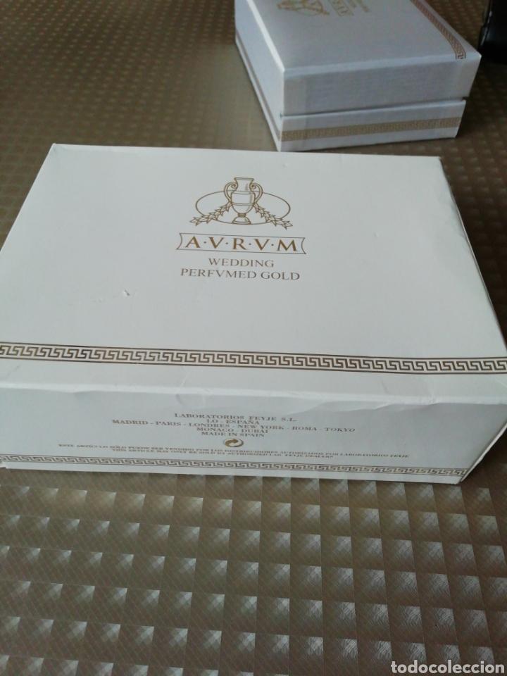Miniaturas de perfumes antiguos: Perfume Aurum wedding perfumed gold - Foto 9 - 146752453