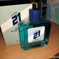 Miniaturas de perfumes antiguos: LUCKY 21 BLUE AFTER SUAVE 200 ML. Lote 165819745