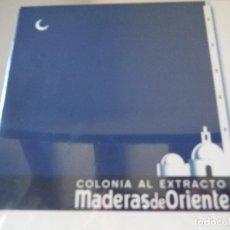 Échantillons de parfums anciens: COLONIA AL EXTRACTO MADERAS DE ORIENTE. Lote 148824554