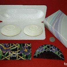 Miniaturas de perfumes antiguos: JABONES , JABON Y PEINE AVON. Lote 148842930