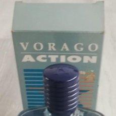Miniaturas de perfumes antiguos: VORAGO ACTION,MYRURGIA.AFTER SHAVE 100 ML. Lote 150370162