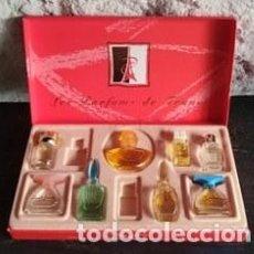 Miniaturas de perfumes antiguos: CAJA CON FRASQUITOS DE PERFUME. LES PARFUMS DE FRANCE. Lote 150713369