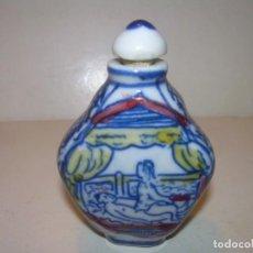 Miniaturas de perfumes antiguos: SNUFF- BOTTLE O PERFUMERO ORIENTAL.EROTICO DE CERAMICA.. Lote 151395922