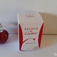 Miniaturas de perfumes antiguos: MINIATURA DELICES DE CARTIER. Lote 151522354