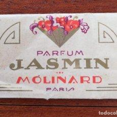 Miniaturas de perfumes antiguos: MUESTRA PERFUME JASMIN MOLINARD ALMACENES HINOJAL ALICANTE . Lote 151604614