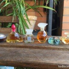 Miniaturas de perfumes antiguos: LOTE MINIATURAS PERFUME. TRESOR. VALENTINO. ODE REVE. CÁNTALE. SHAFALI. ULTRAVIOLET. Lote 151610064