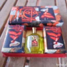 Miniaturas de perfumes antiguos: ESTUCHE CON JABON PERFUME COLONIA MAJA DE MYRURGIA. Lote 151947802