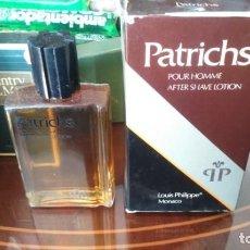 Miniaturas de perfumes antiguos: ANTIGUA PATRICHS HOMBRE AFTER SHAVE LOCIÓN BARBERO 120 ML AÑOS 70. Lote 152399702