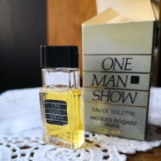 Miniaturas de perfumes antiguos: ONE MAN SHOW - EAU DE TOILETTE- 4 ML -JACQUES BOGART - PARIS. Lote 152437010