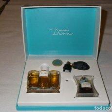Miniaturas de perfumes antiguos: CONJUNTO DE PERFUME EMIR DE DANA ( FRASCO CON DIFUSOR Y MINIATURA ).. Lote 153897002