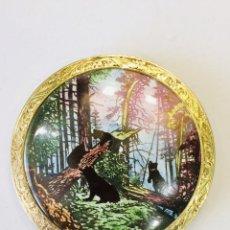 Miniaturas de perfumes antiguos: CAJA DE POLVO PARA LA CARA PLATA 875 URSS . Lote 157432806
