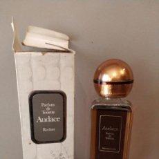 Miniaturas de perfumes antiguos: AUDACE ROCHAS - PERFUM DE TOILETTE - ALTURA 21 CM - DIFÍCIL UNICA. Lote 157935102