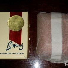 Miniaturas de perfumes antiguos: ANTIGUO JABÓN DE TOCADOR DE LA FARMACIA GENOVE DE BARCELONA.. Lote 158266330