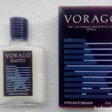 Miniaturas de perfumes antiguos: AFTER SHAVE EMULSION VORAGO 100 ML - MYRURGIA - A ESTRENAR - . Lote 158553766