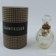 Miniaturas de perfumes antiguos: FRASCO DE PERFUME CHANTECLER, MUY RARO, BUEN ESTADO. VACIO. EL FRACO DE CRISTAL MIDE 7,7 CMS DE ALTO. Lote 159942066