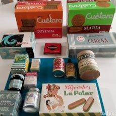 Miniaturas de perfumes antiguos: GRAN LOTE DE CAJAS, BOTES ANTIQUÍSIMOS DE DISTINTOS PRODUCTOS( VER FOTOS). Lote 160462149