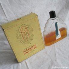 Miniaturas de perfumes antiguos: COLONIA AL EXTRACTO MADERA DE ORIENTE DE MYRURGIA Nº 602. Lote 160499750