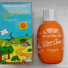 Miniaturas de perfumes antiguos: PETIT CHERI JABON PARA BEBE - LEGRAIN - DE UNOS 300 ML - A ESTRENAR - . Lote 161509654