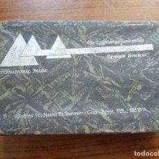 Miniaturas de perfumes antiguos: CAJA CON 4 MINIATURAS DE PERFUME EGIPCIO THE EGYPTIAN PERFUME PALACE EGYPTAIN ESSENCES . Lote 165781830