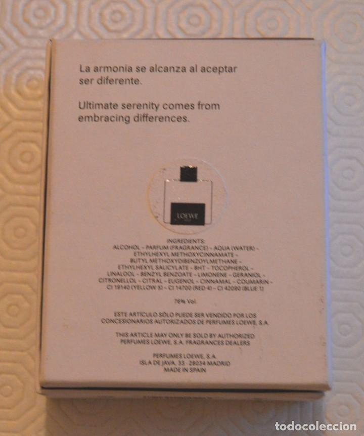 Miniaturas de perfumes antiguos: SOLO LOEWE - CEDRO - CAJA Y PERFUME VACÍO - 50 ML - Foto 4 - 166447610