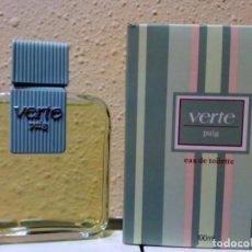 Miniaturas de perfumes antiguos: COLONIA VERTE DE PUIG - 100 ML. Lote 166686546
