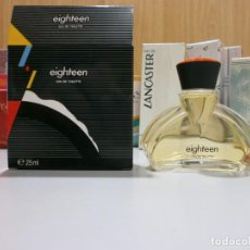Miniaturas de perfumes antiguos: EIGHTEEN 25 ML COMPLETA ANTIGUA PERFUMERIA. Lote 166931884